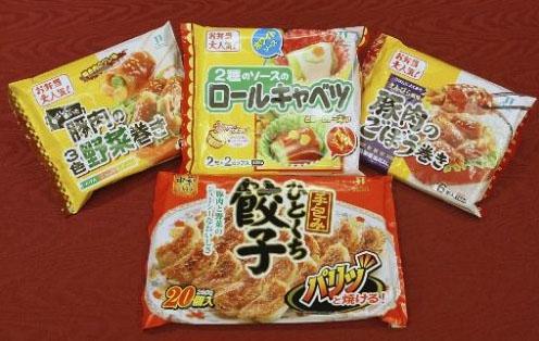 中国産冷凍ギョウザなど回収された商品の一部
