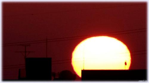 3月8日の朝陽