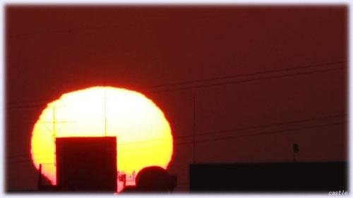 3月9日の朝陽