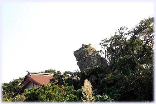 鵜戸神宮、神犬石