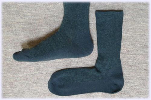 足なり直角靴下を履く