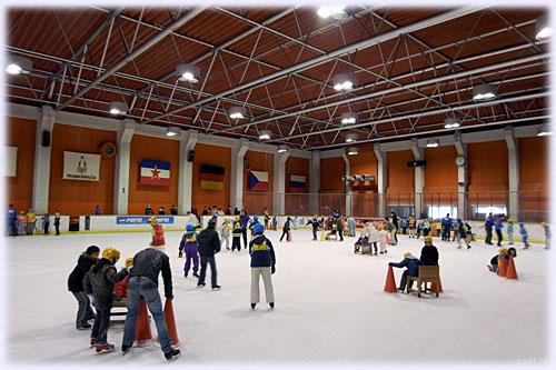 勝山でスケート