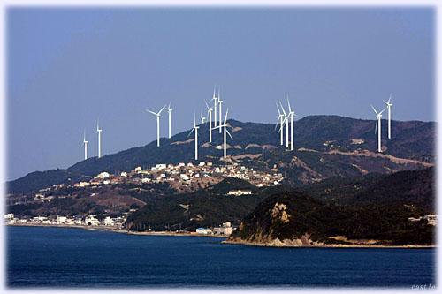 淡路島の風力発電