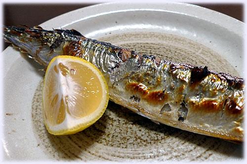 秋刀魚にカボス