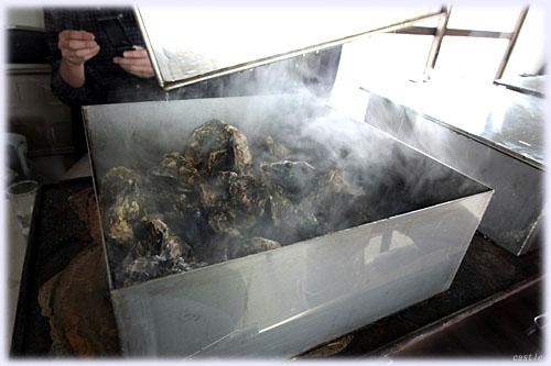 焼き牡蠣出来上がり