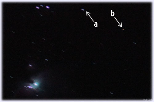 オリオン大星雲と謎の光点