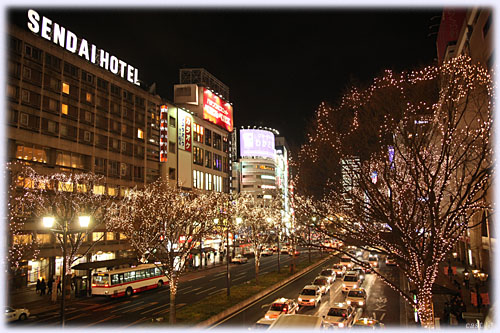 仙台駅前(青葉通り)