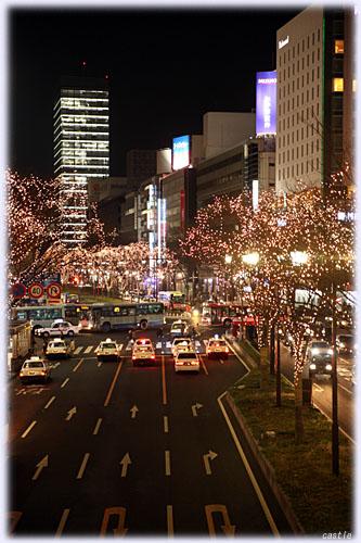 仙台駅前(青葉通り