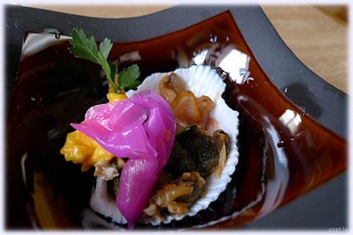 赤貝の肝とヒモ