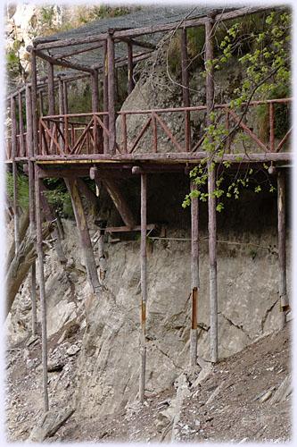 九寨溝の木道