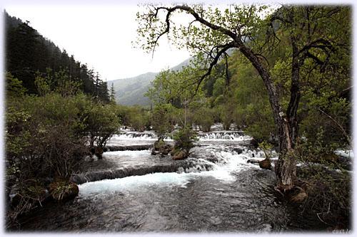 九寨溝の川