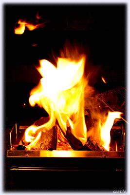 火起こしバッチリ