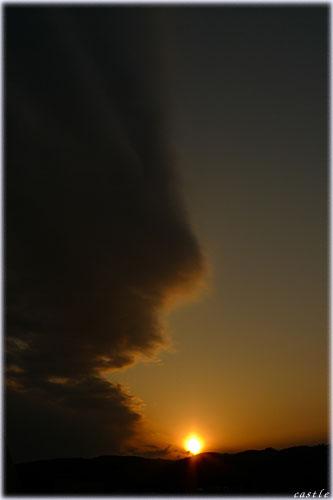 翼のような雲