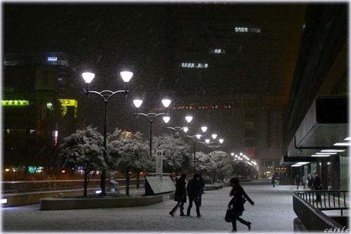 この冬一番の雪@仙台