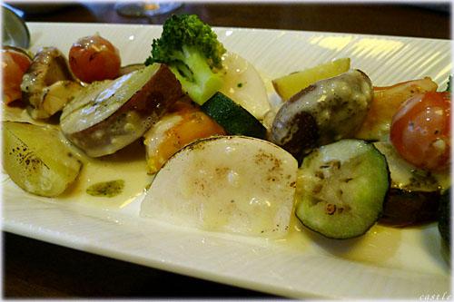 椎茸と野菜焼き