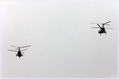 自衛隊のヘリ