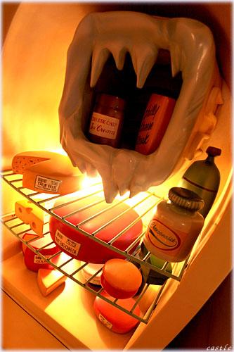 ミニーの家の冷蔵庫