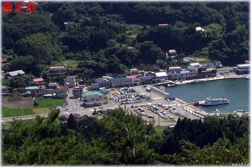 震災前の大島、浦の浜港