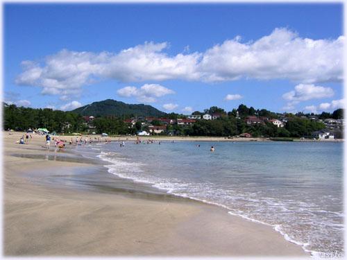 大島、小田の浜