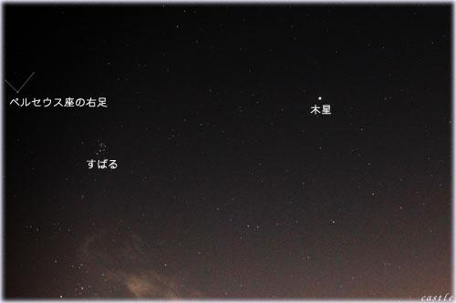 木星とスバルとペルセウス座(の足)