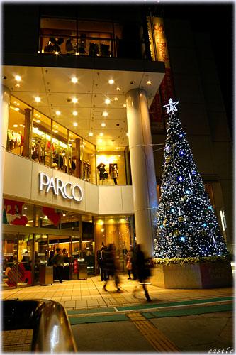 PARCOのクリスマスツリー