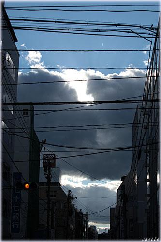 街からみる空
