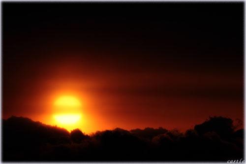 マカロンみたいな朝陽