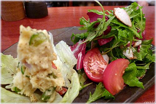 夏のポテサラと野菜サラダ