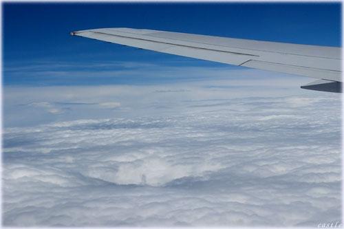 飛行機から見た雲