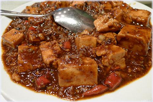 蘭苑飯店の麻婆豆腐