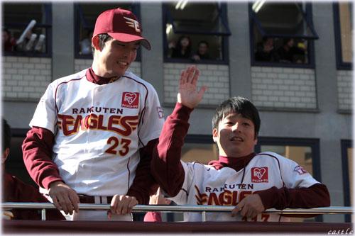 聖沢外野手、藤崎打撃投手