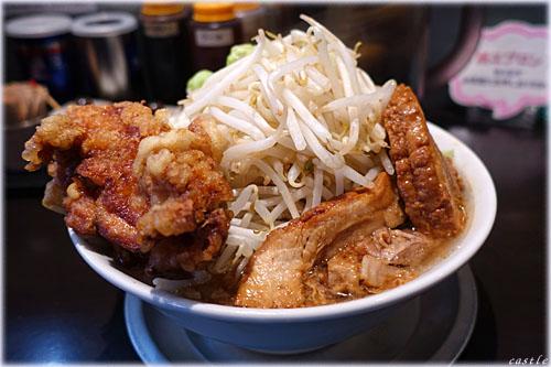 マッチョ麺(唐揚げトッピング)