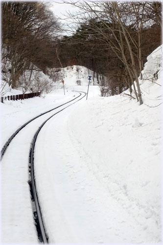 列車で安比へ