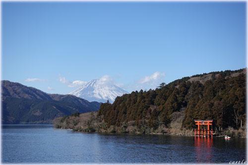 箱根神社と富士