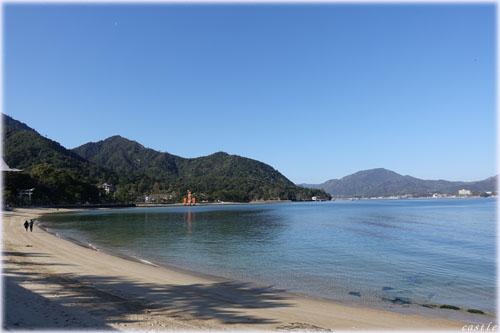 宮島の海岸線