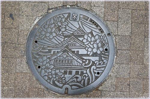 大阪城マンホール