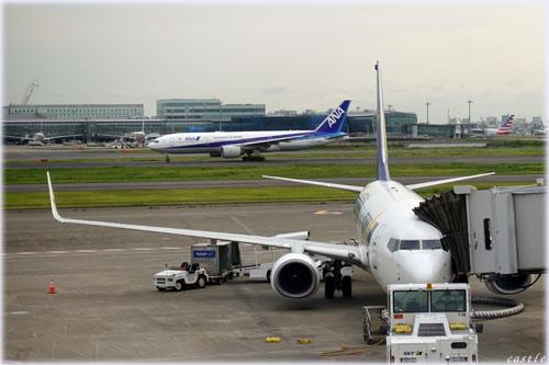 離陸前@羽田空港
