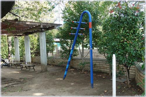 亀塚公園でストレッチ