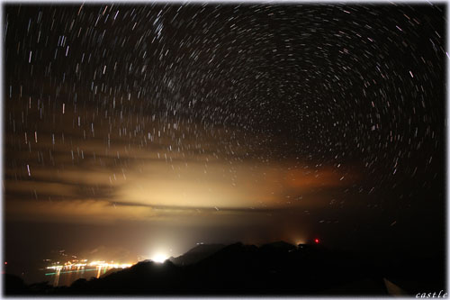 中央山で星空撮影