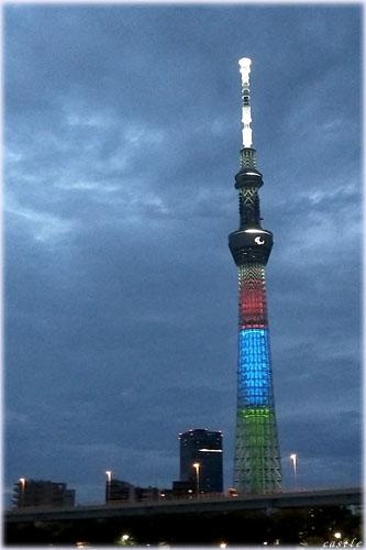 東京スカイツリー(パラリンピックカラー)